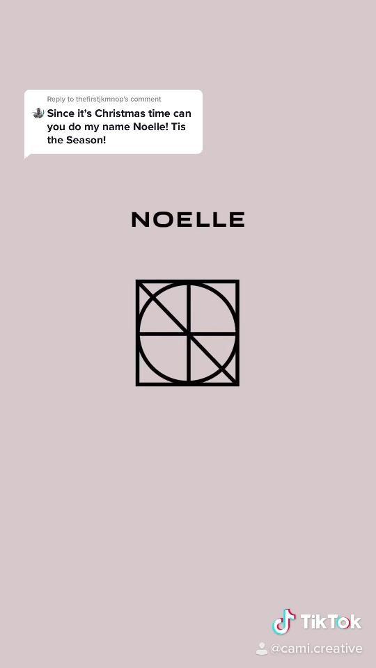 Video Name Logo Design Noelle Di 2021 Tipografi Desain Grafis Logo Pribadi Minimal Logo