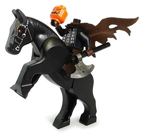 NEW Lego Halloween Minifigure Head Pumpkin Jack O/' Lantern Green RARE HEAD