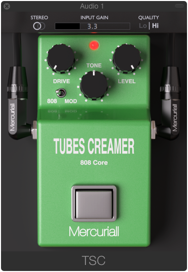 Tubes Creamer 808 Core free audio plugin for Mac OS X and