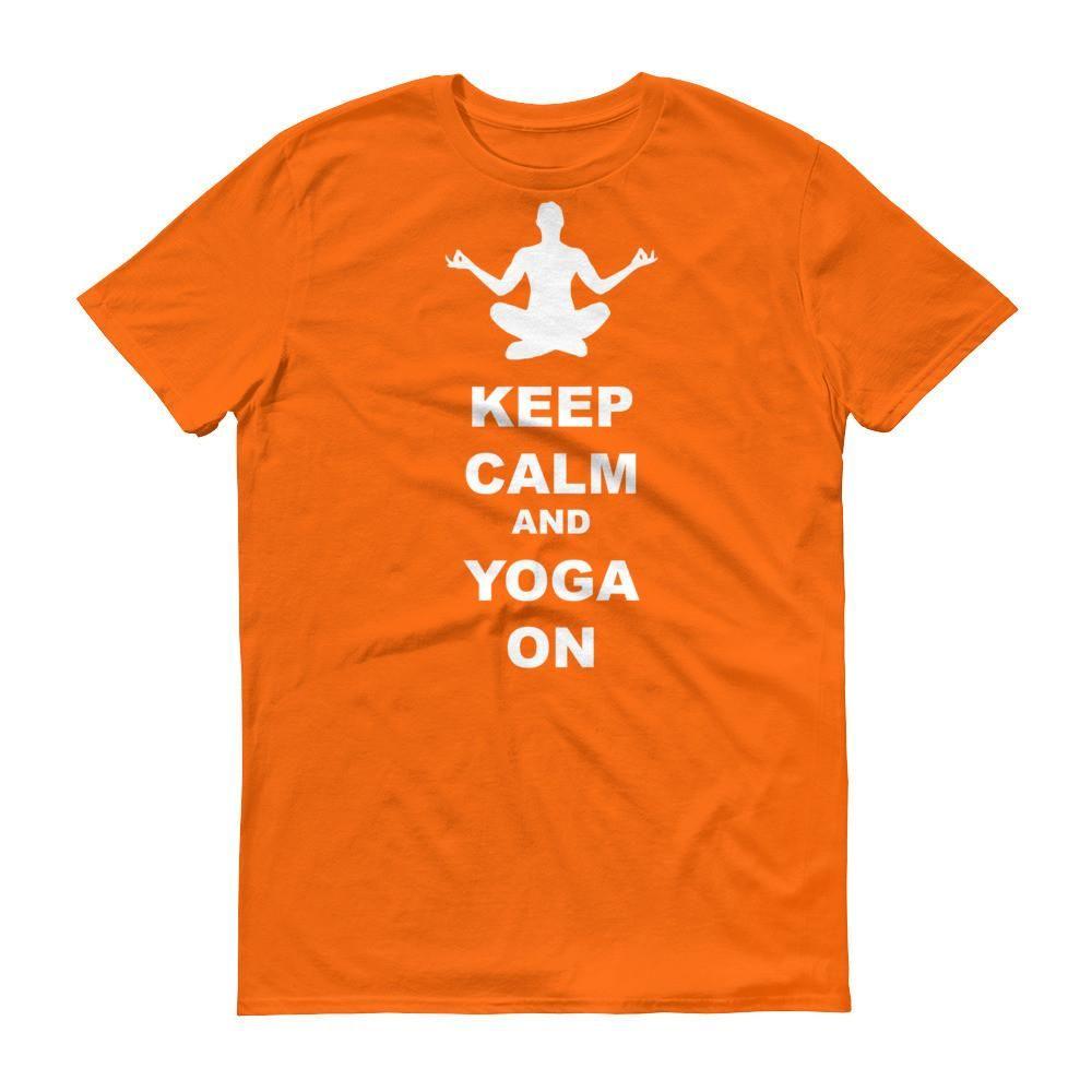 Keep Calm and Yoga On - Unisex Short sleeve t-shirt