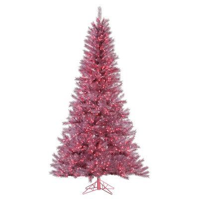 5\u0027 Snow Twig Artificial Christmas Tree with LED Lights Pink, Trees