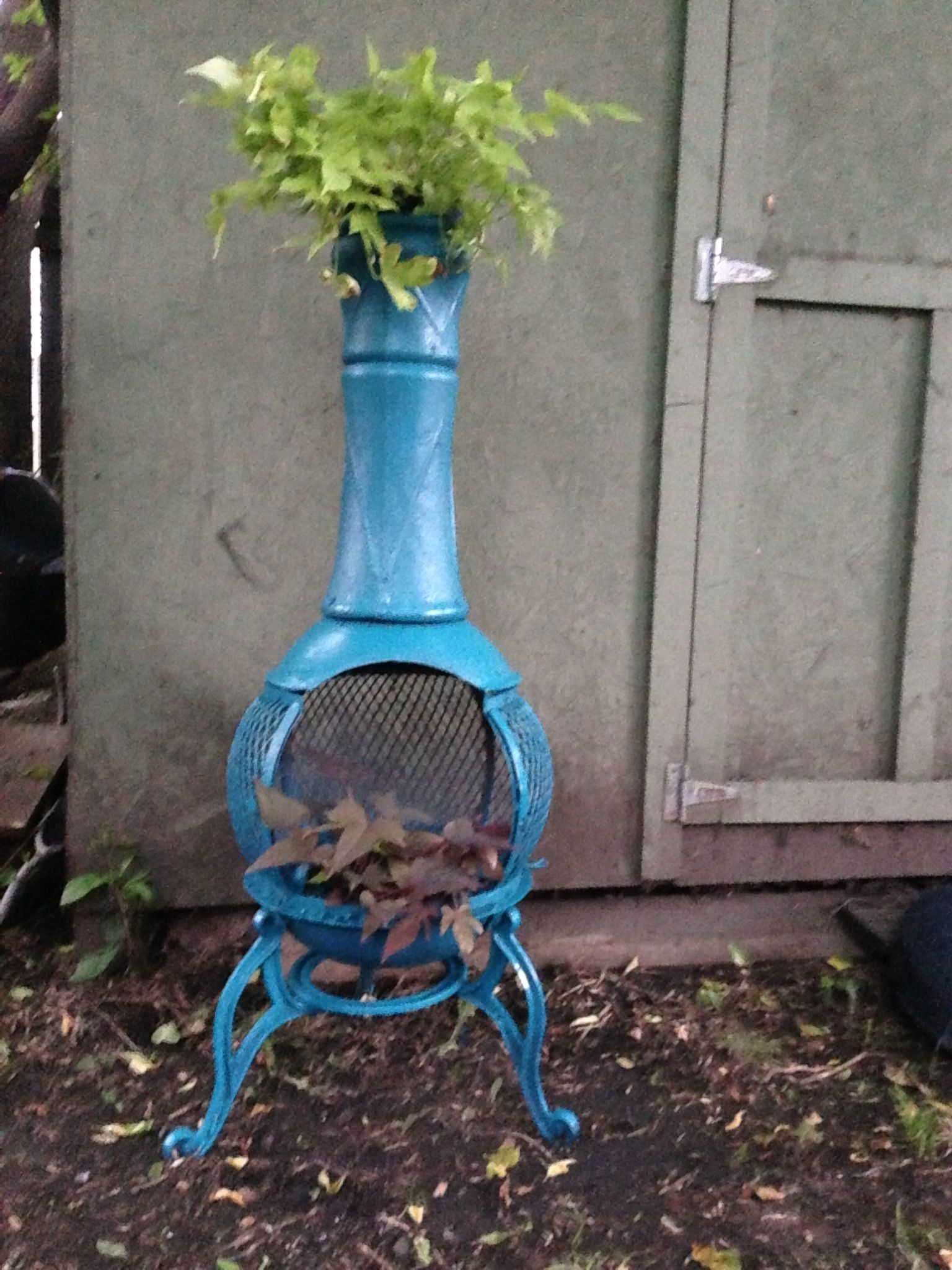 Turned My Old Rusty Chiminea Into A Cute Planter