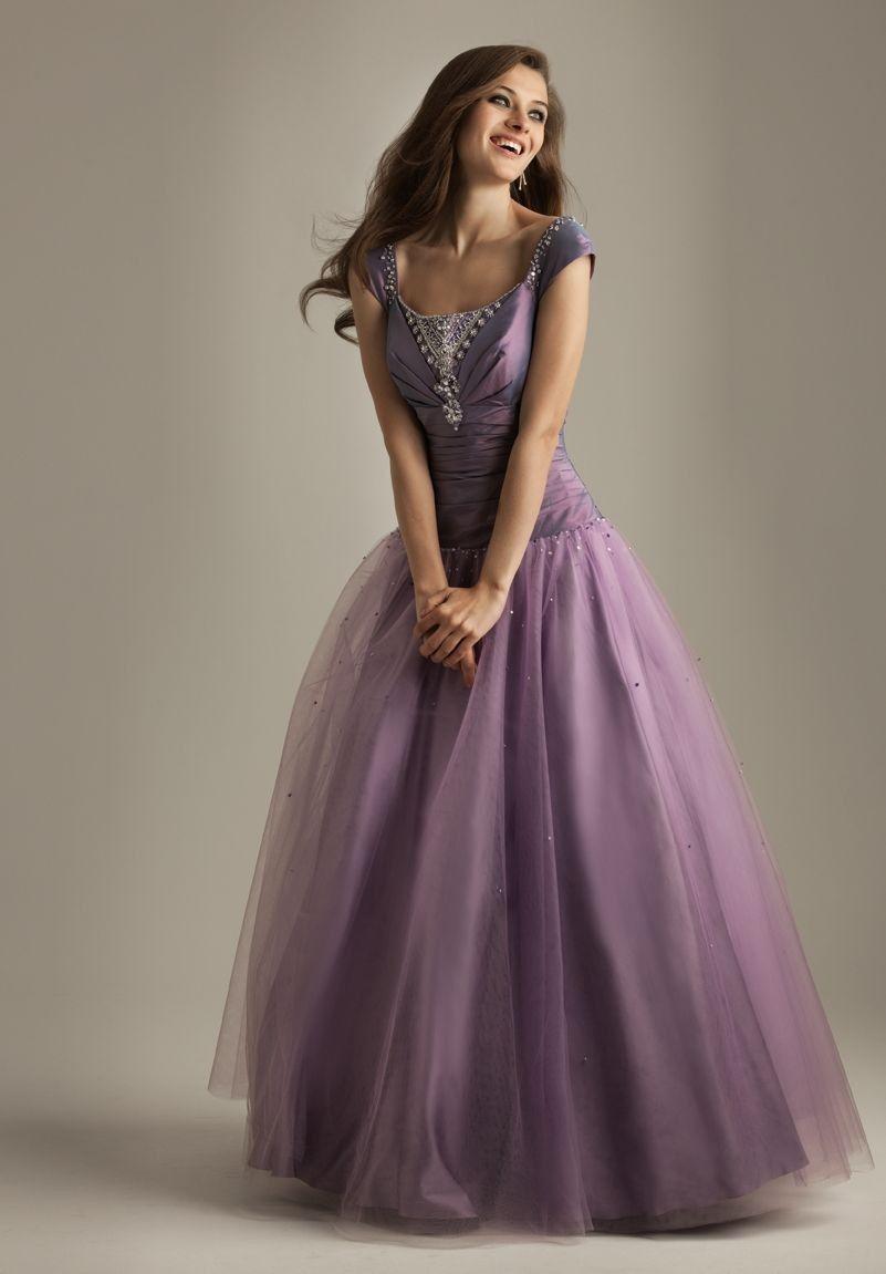 Shining purple ball gown whiteazaleaballgownsdressesspot