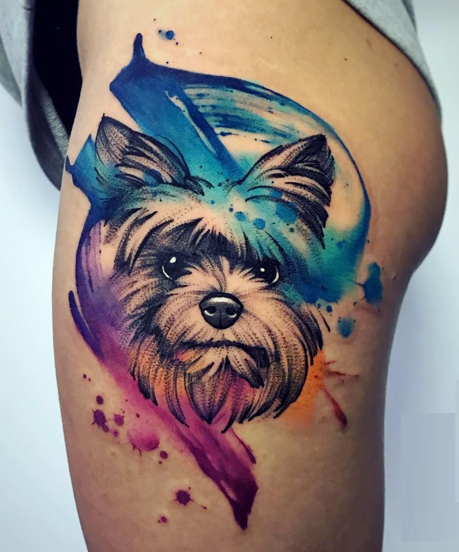 Watercolor Tattoos Will Turn Your Body Into A Living Canvas Dog