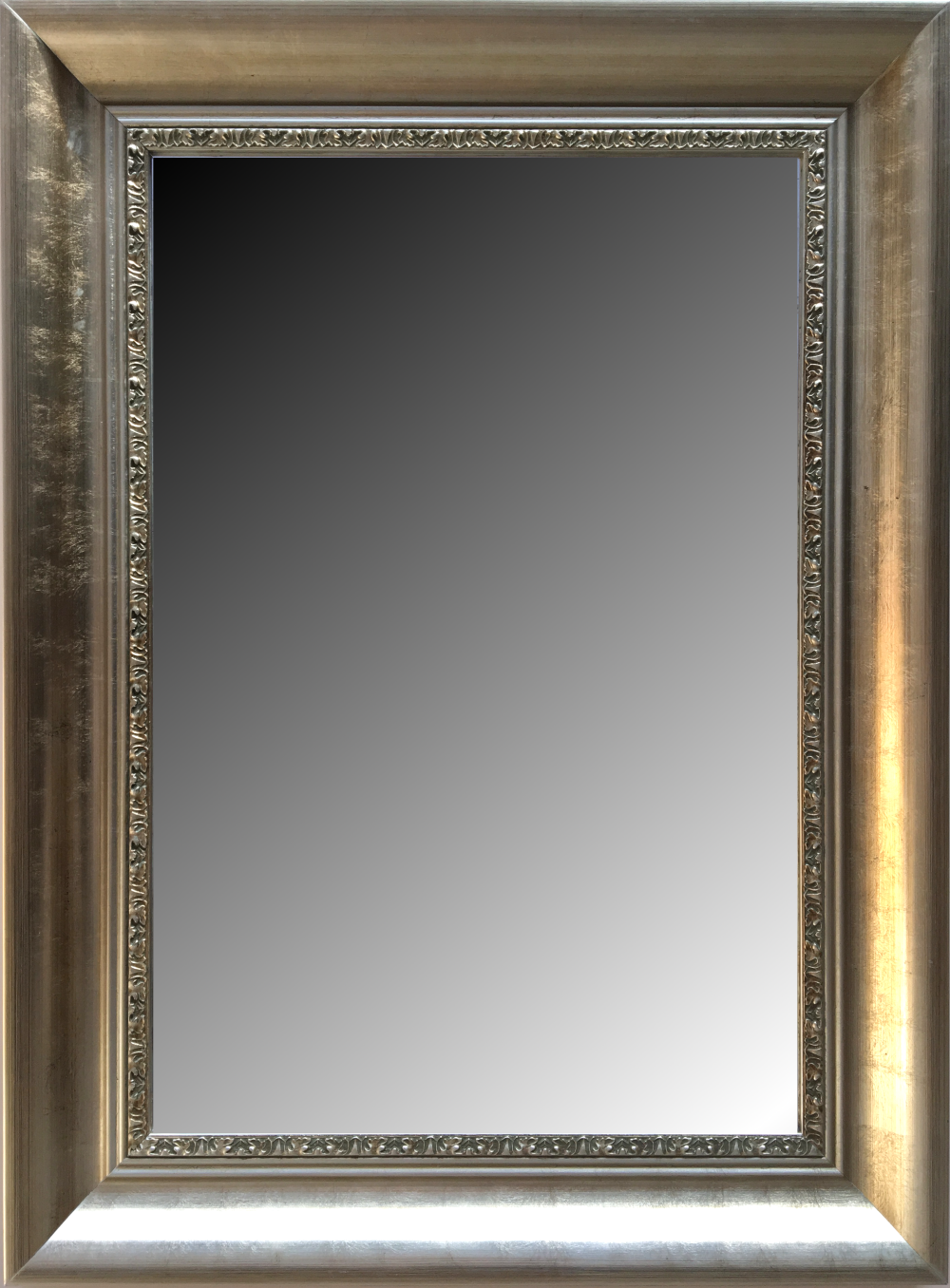 espejo biselado estilo moderno con marco en madera modelo