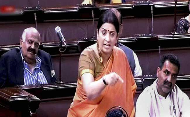 Smriti Irani's 'Durga' Comments Expunged From Rajya Sabha Records