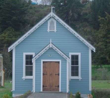 Cute Old Church In Nelson In Resene Tsunami And Resene Sea Fog First Impressions Count