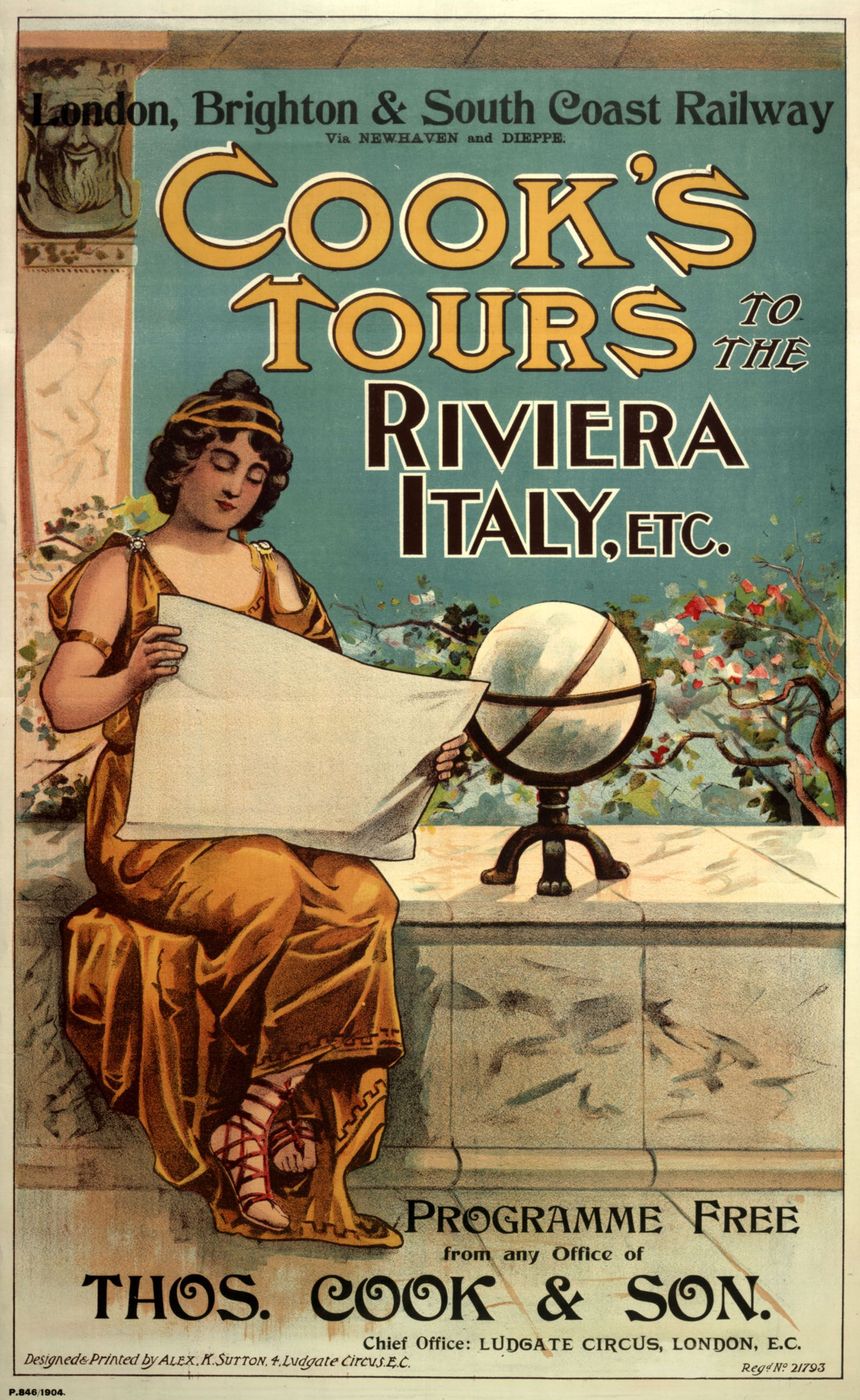 vintage posters for kitchen rustic art thomas cook poster 1904 travel