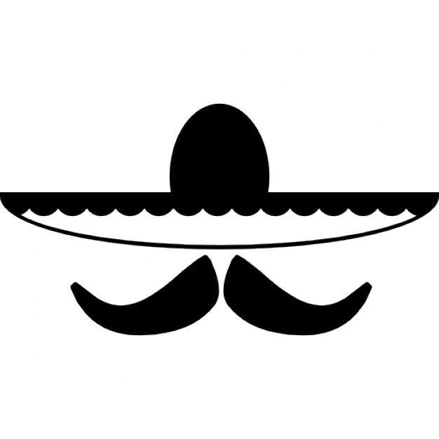 Sombrero Mexicano Y El Bigote Ios 7 Simbolo Interfaz 318 35422 Png 626 626 Western Clip Art Mexican Art Sugar Skull Design