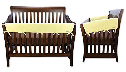 Amazon Com Natural Fleece  Piece Cribwrap Convertible Crib Rail Cover Set Natural Fleece Crib Wrap Convertible Baby