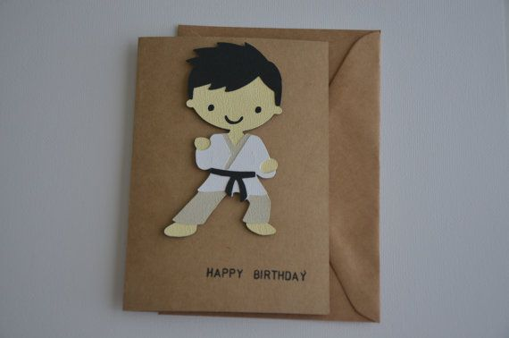 Martial Arts Birthday Card Karate Birthday Card Bjj Birthday Card