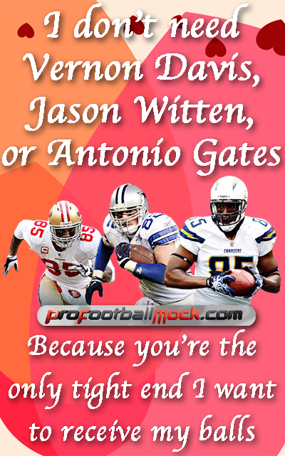 Großartig Soccer Valentine Cards | Valentines Day   NFL Tight Ends
