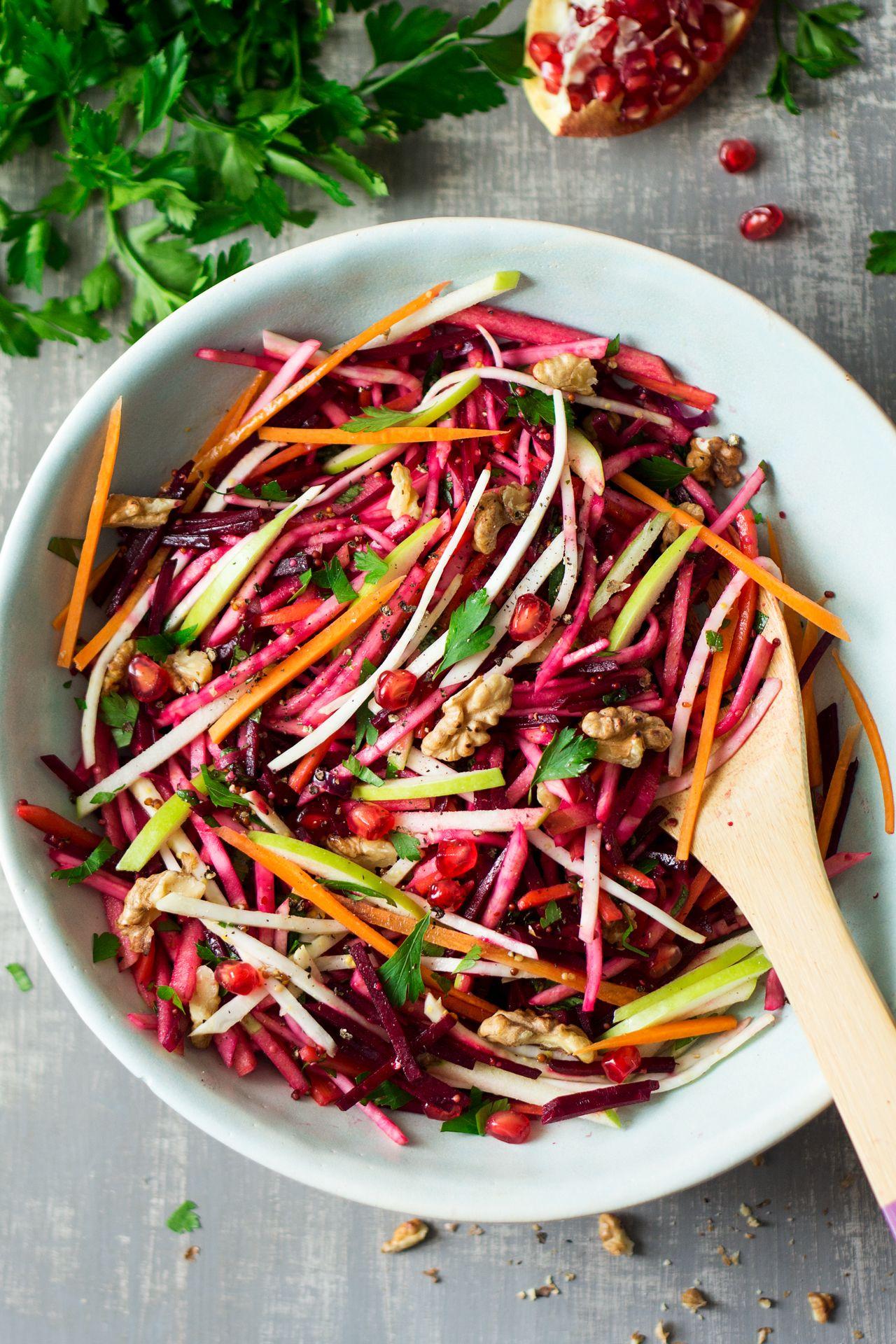 Christmas Salad Recipes.Vegan Christmas Salad