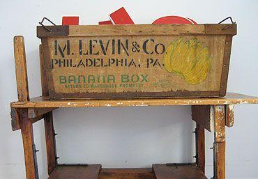 wooden crate philadelphia banana box vintage crates crates wooden crate pinterest