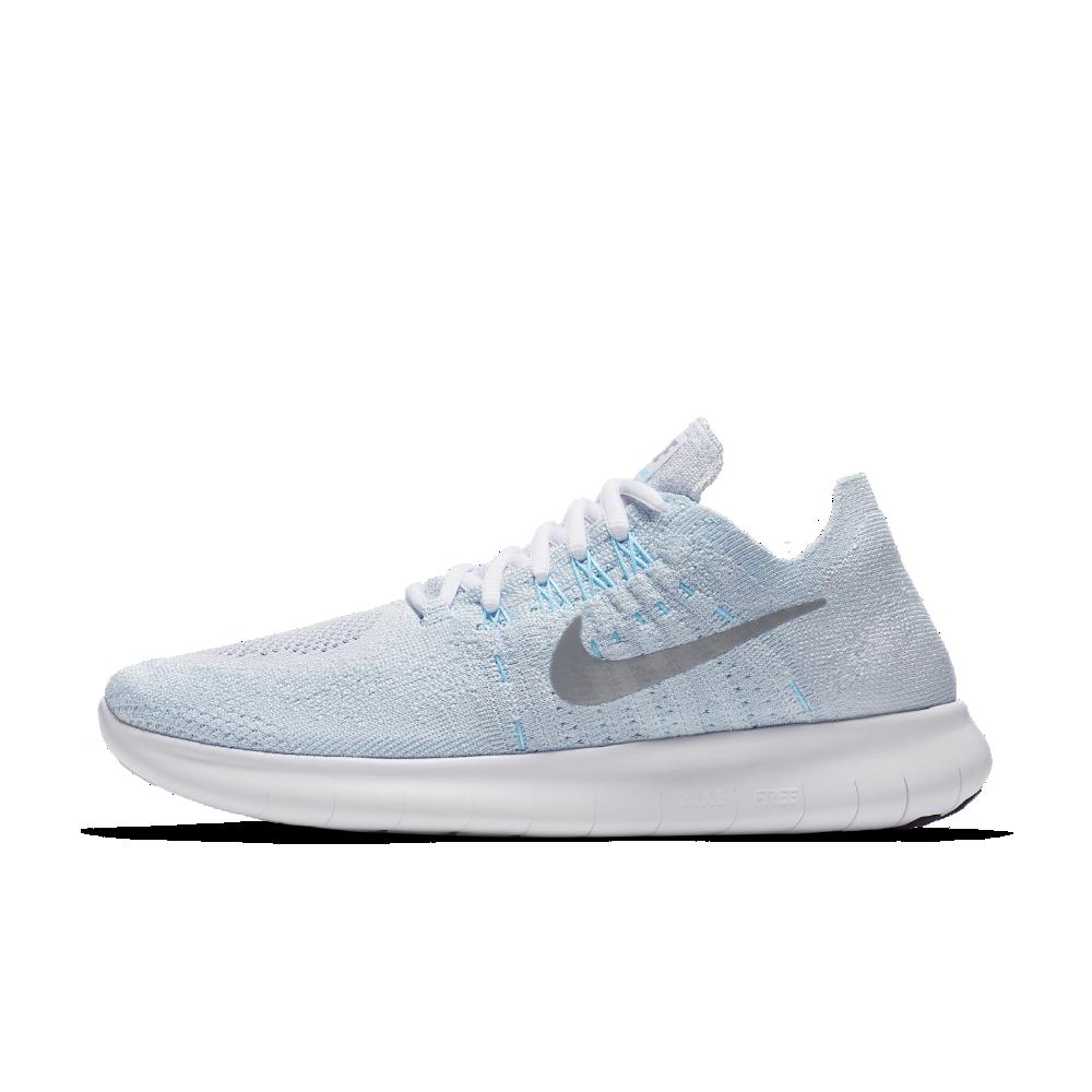 b4142c6ebd0 Nike Free RN Flyknit 2017 Women s Running Shoe Size 12 (Silver ...