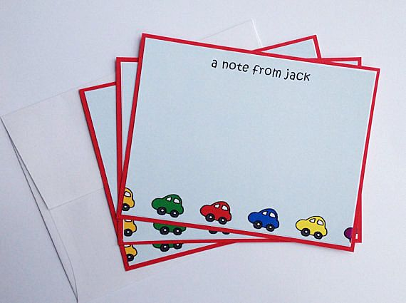 Personalized Stationery Boys Stationery Set by @SincerelyYours1 on #Etsy