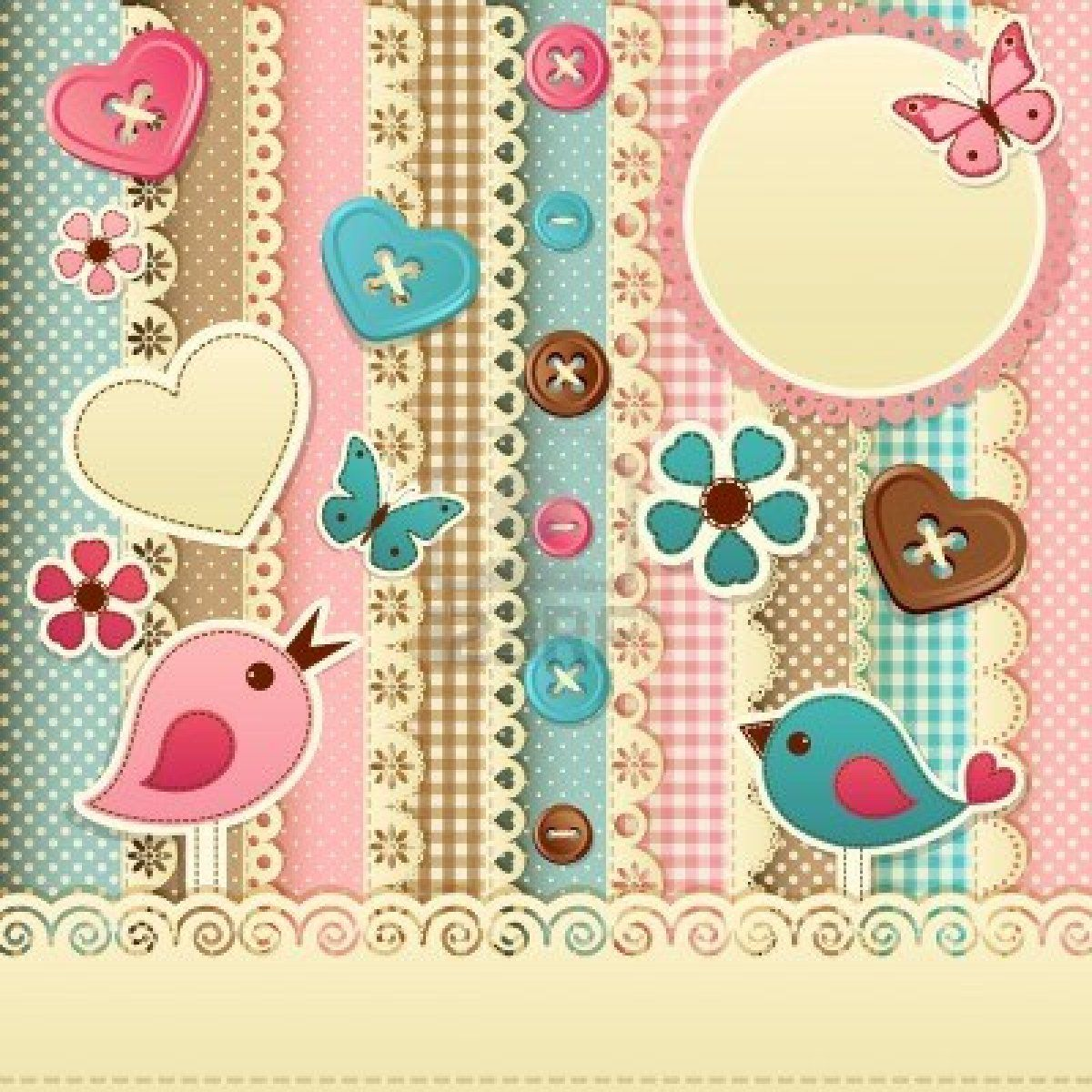 CUTE HEARTS, BUTTERFLY, BIRDS, AND BUTTONS, PRINTABLE ...