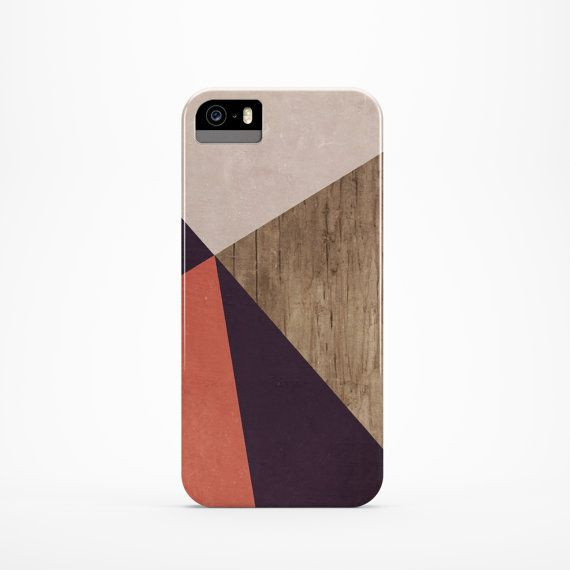 Coral iPhone 5 case Brown iPhone 5s case Simple iPhone 4 case Wood ...