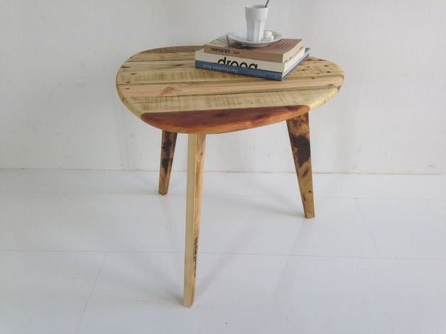 Coffee Table Made From Wooden Pallets Table Basse Vintage