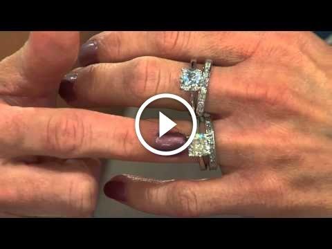 Ships 6 6 15 Epiphany Diamonique 100 Facet 2 Pc Bridal Ring Set With Shawn Killinger Bridal Ring Set Ring Sets Diamonique Rings