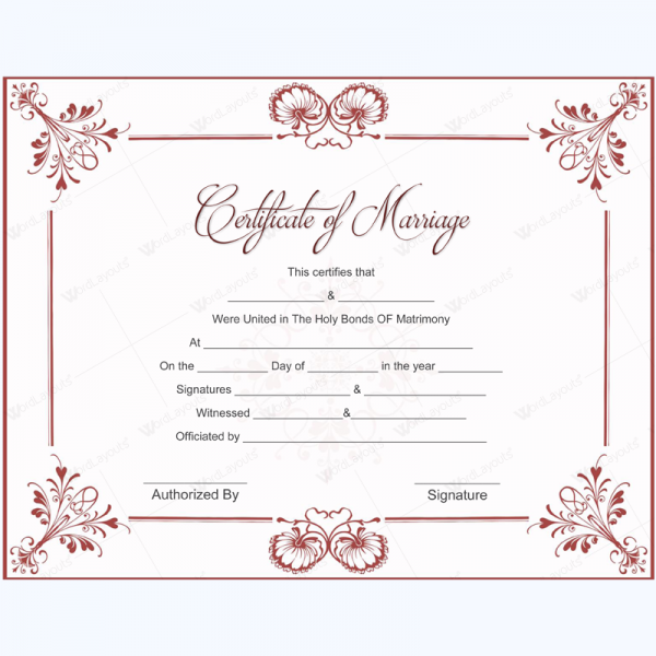 marriage certificate 05 marriage certificate templates pinterest