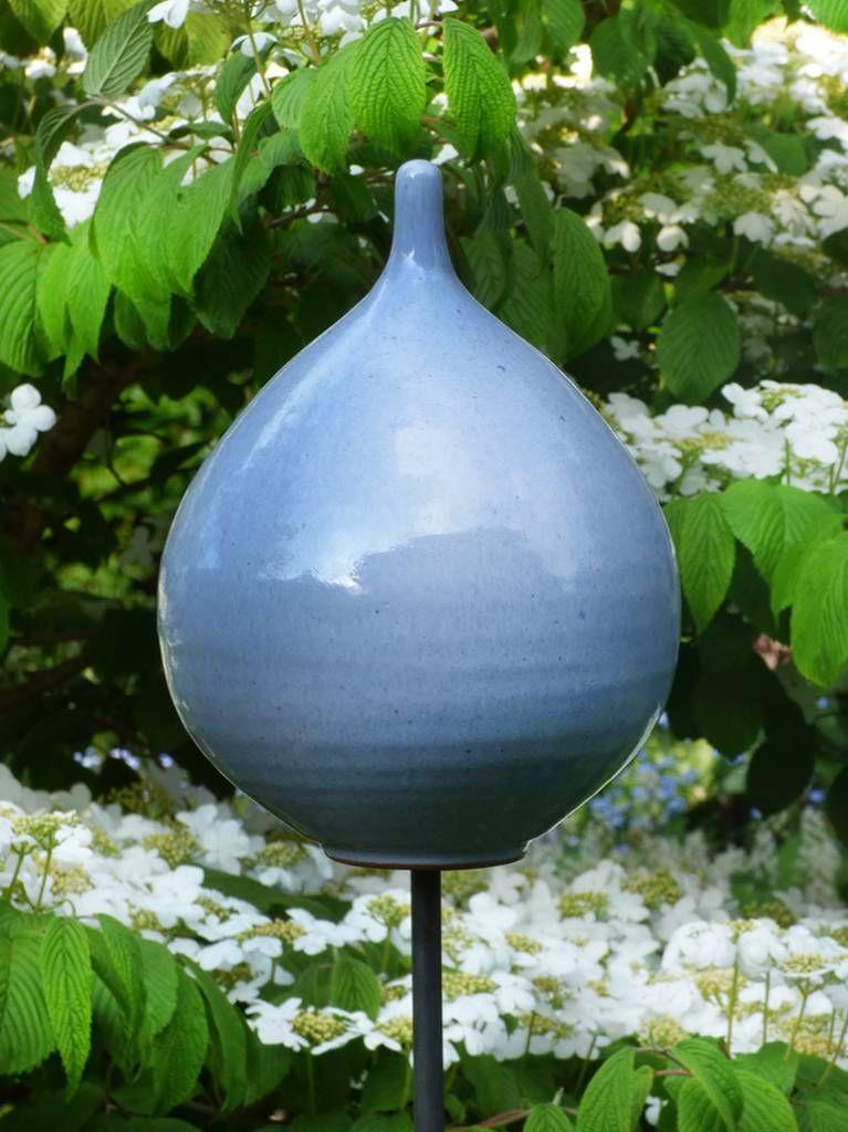 Keramik-Zwiebel himmelblau - Gärten für Auge & Seele
