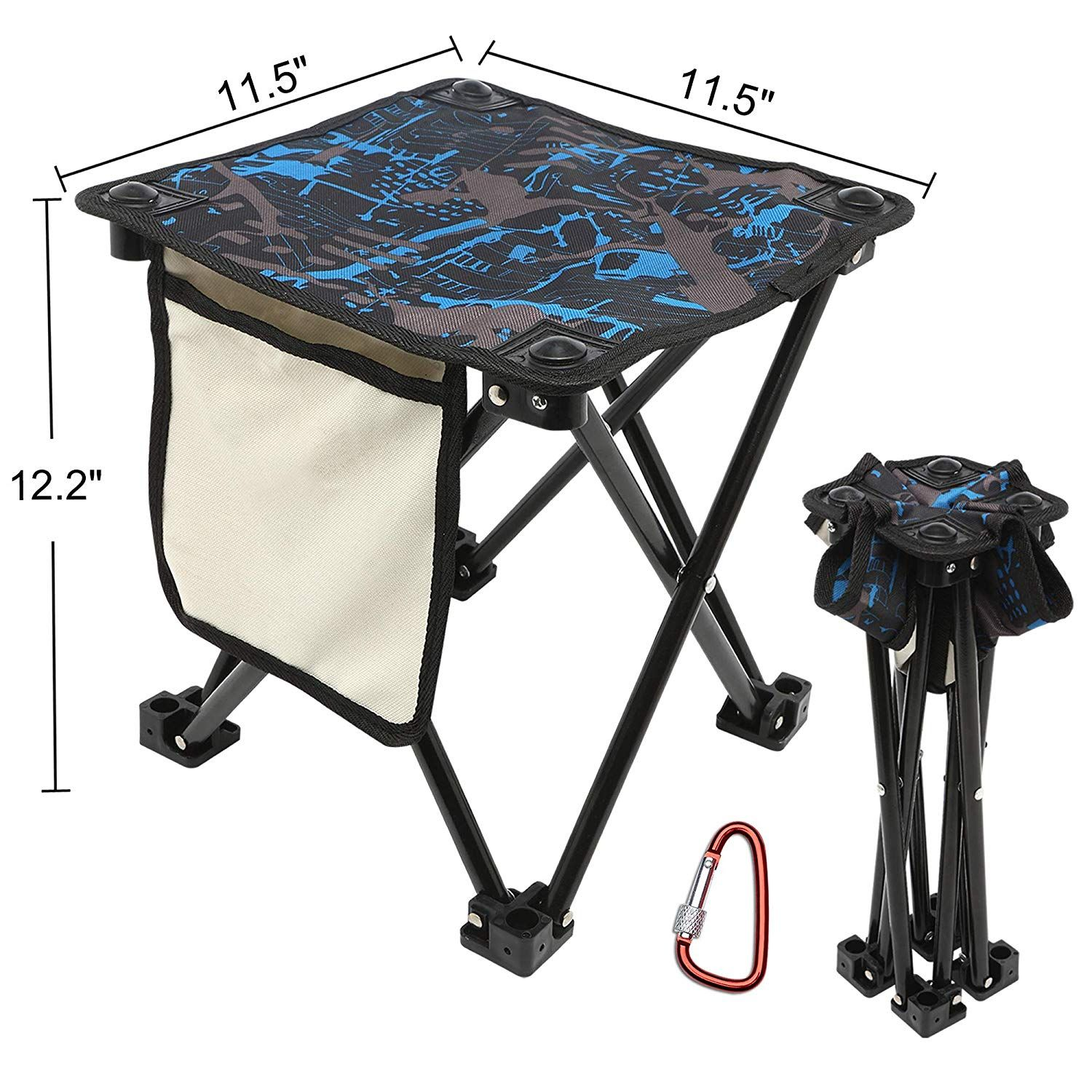 Camouflage Camping Fishing Stool for Adults Fishing Hiking Gardening and Beach with Carry Bag Hold Up to 450lbs MingSo Mini Portable Folding Stool