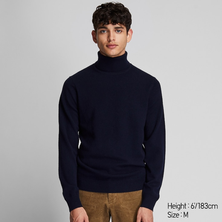MEN CASHMERE TURTLENECK LONG SLEEVE SWEATER in 2020