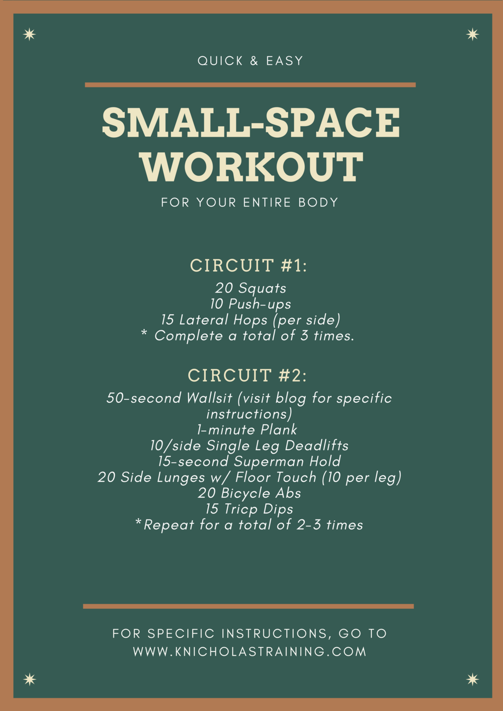 The Quick-and-Dirty Full-Body Workout for a SmallSpace