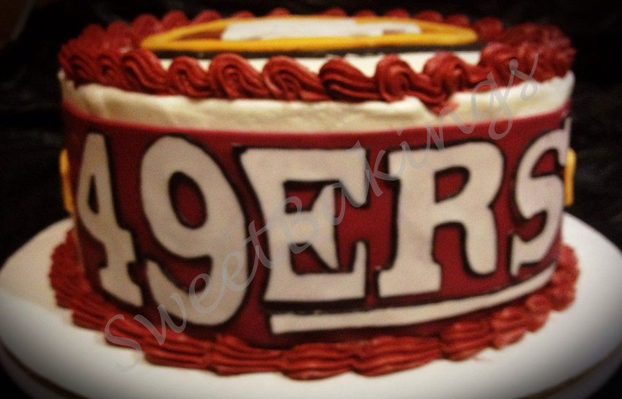 49er Birthday Cake Pictures 49ers Cake By Sweetbakings