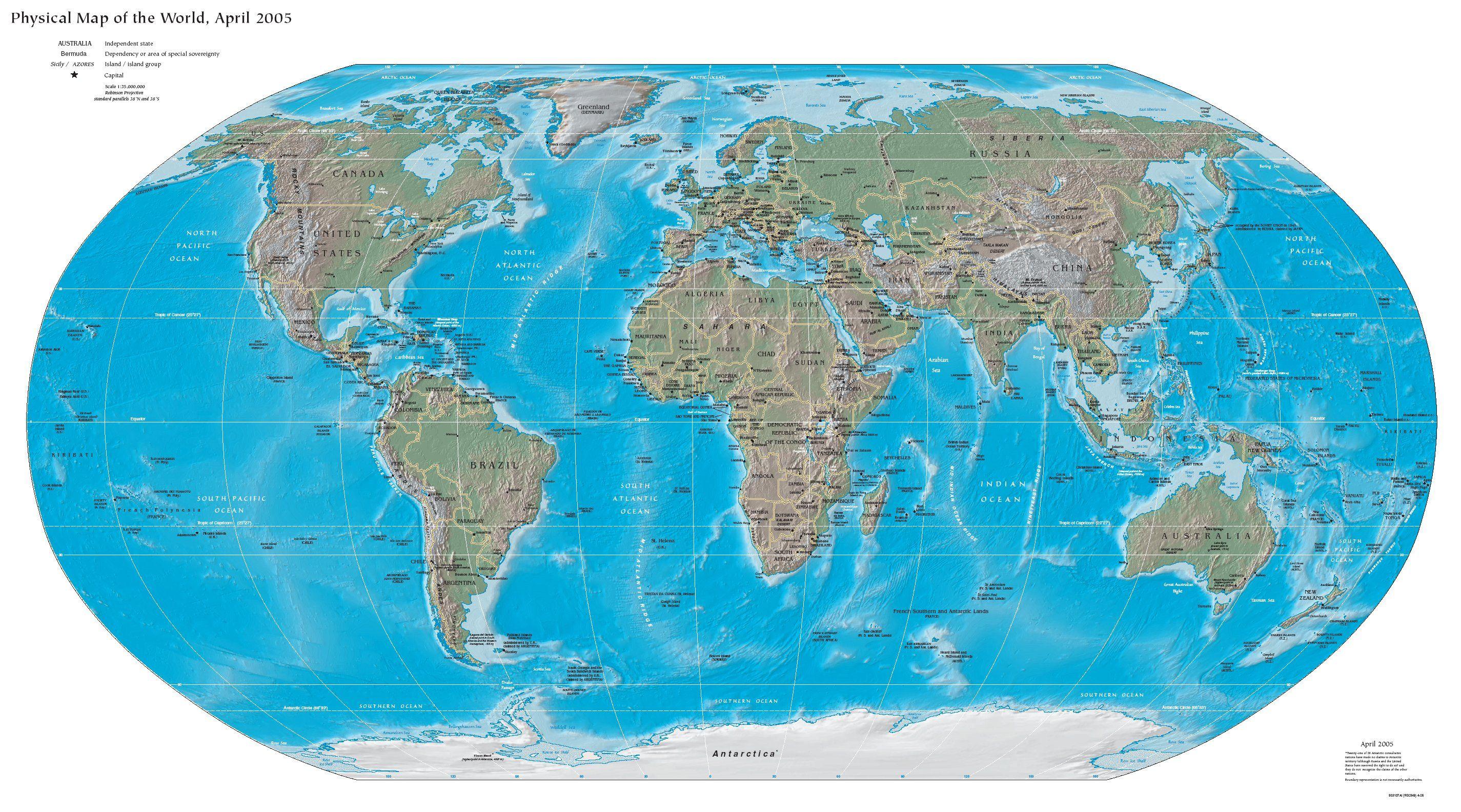 Mapamundi Mapa fsico  Contexto histrico BD relacionales y