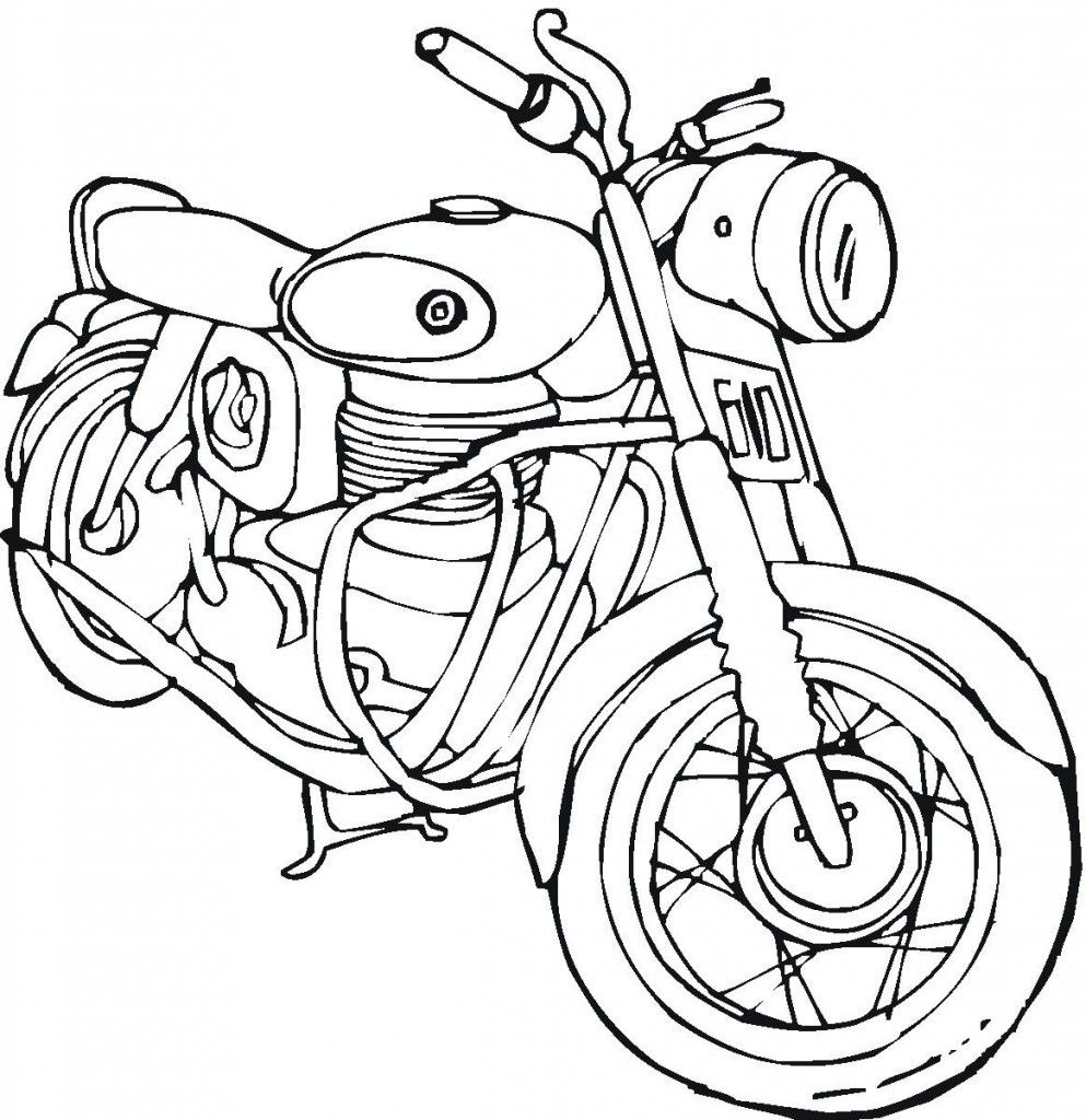 Free Printable Motorcycle Coloring Pages For Kids  Race car
