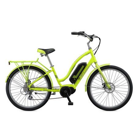 1b618e7eba4 Schwinn Constance 250 Watt 7-Speed Mid Drive Cruiser Electric Bicycle, Blue