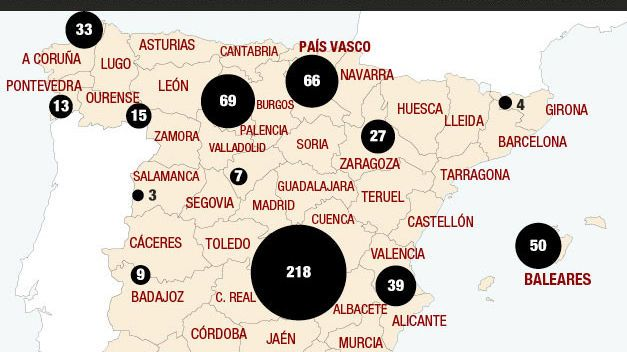Puntos negros en España