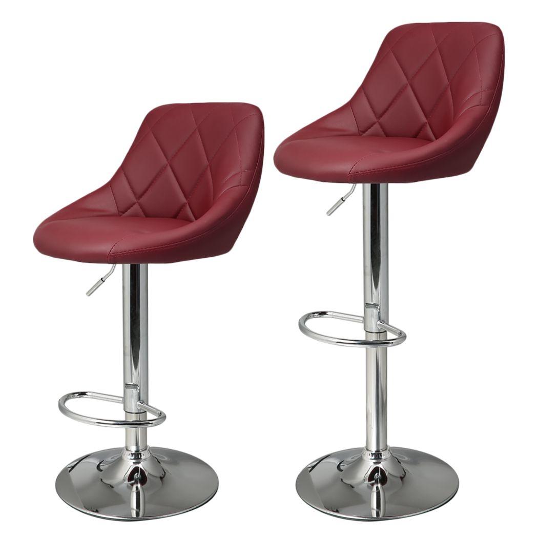 Astonishing Homdox 2Pcs Synthetic Adjustable Swivel Bar Stool Stainless Machost Co Dining Chair Design Ideas Machostcouk