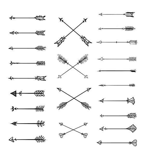 Doodle Tribal Arrows Clipart 23 Vector Arrows