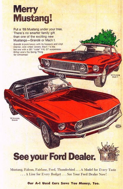 1969 Ford Mustang Mach 1 And Grande Car Ads Ford Mustang