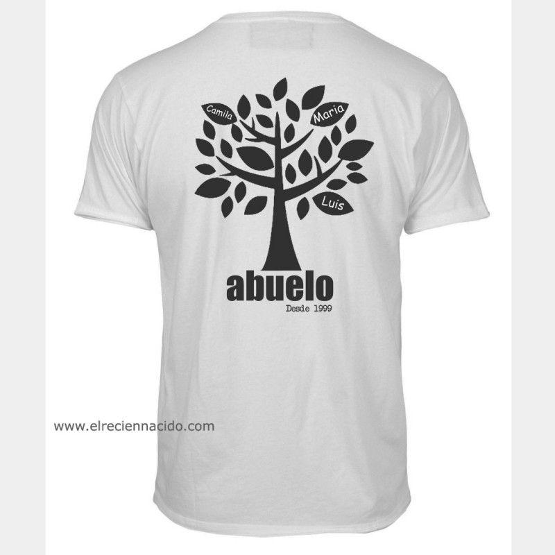 Camiseta árbol para abuelos. Esta camiseta personalizada es un regalo muy  especial para abuelos. 25a0497ba95f6