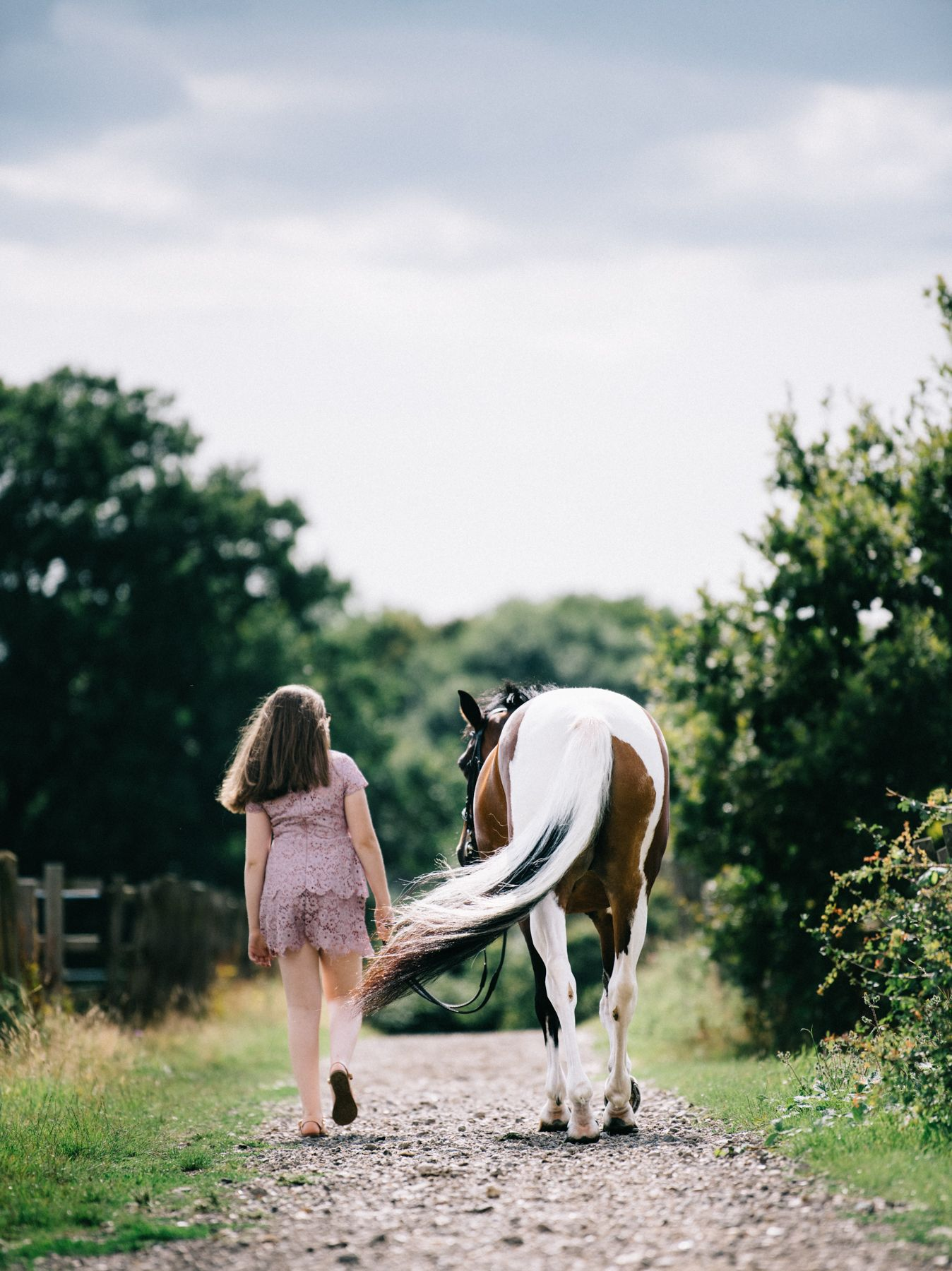I love capturing the horse and owner walking away from me