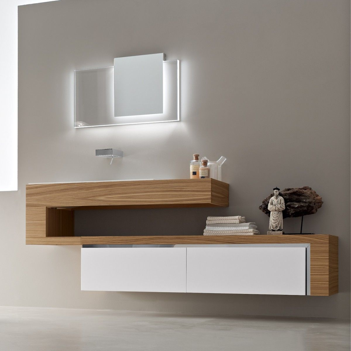 ultra modern italian bathroom design with nice wall mount vanity with cool pattern and chic mirror design ideas of italian vanity design - Bathroom Vanity Design Ideas