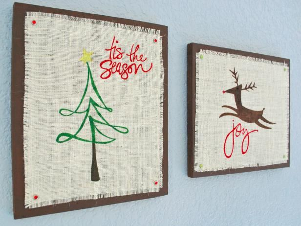 Charmant Burlap Christmas Wall Art (Swell Noel   Positively Splendid {Crafts,  Sewing, Recipes And Home Decor}