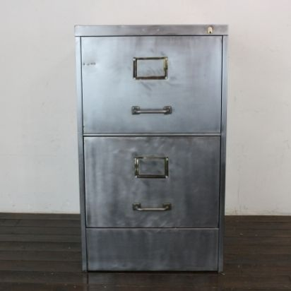 Charmant Vintage Metal File Cabinet