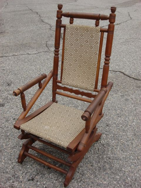 This is a wonderful American antique Victorian antique rocking chair that  dates from 1870-1890 - This Is A Wonderful American Antique Victorian Antique Rocking Chair