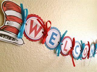 Dr. Seuss DIY Welcome Banner
