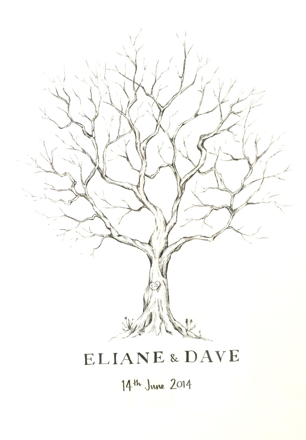 Fingerprint tree  Wedding fingerprint tree, Fingerprint tree, Guest book tree