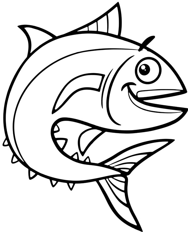 Tuna Fish Coloring Page To Print Free Fish Coloring Page Free Coloring Page Template Printing Fish Coloring Page Turtle Coloring Pages Animal Coloring Pages