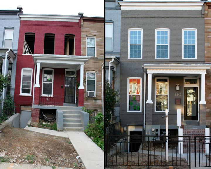 BEFORE AFTER Alex Renovated This Row House In The Trinidad Best Kitchen Remodeling In Baltimore Exterior