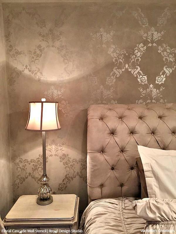 Bedroom Wall Stencils Design | Zef Jam