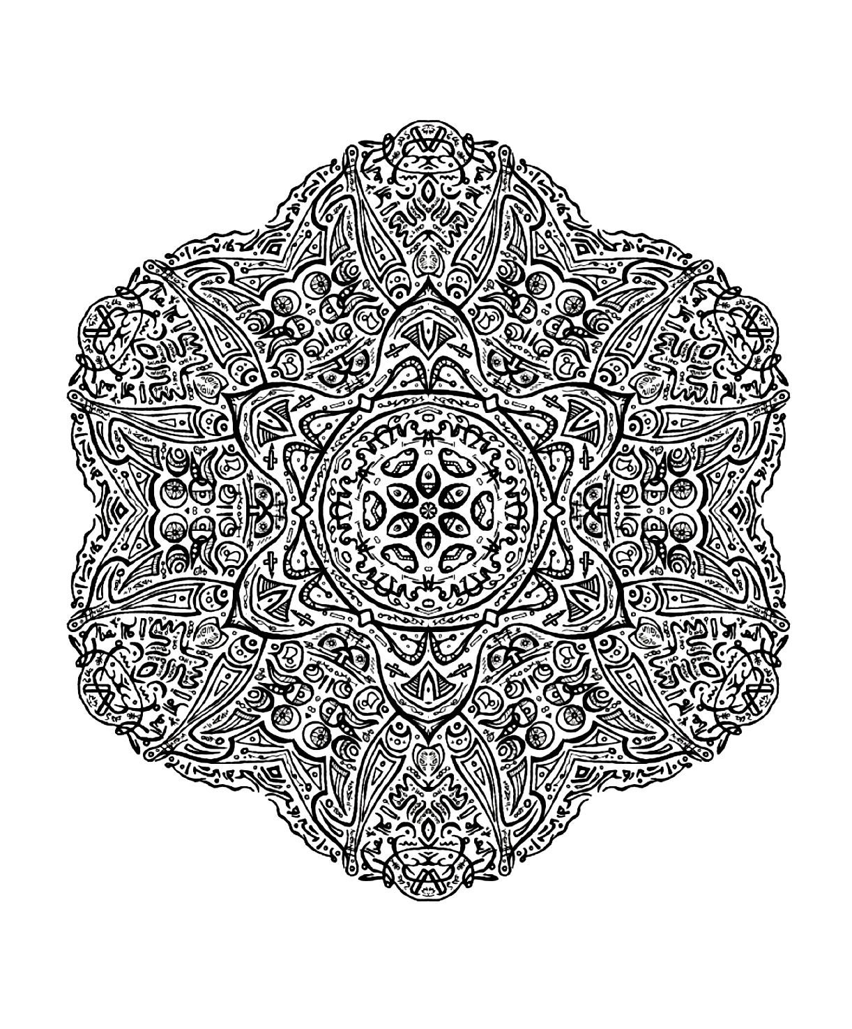 Free Mandalas To Print And Color Very Difficult Mandalas For Adults Mandala Coloring Pages Mandala Coloring Detailed Coloring Pages