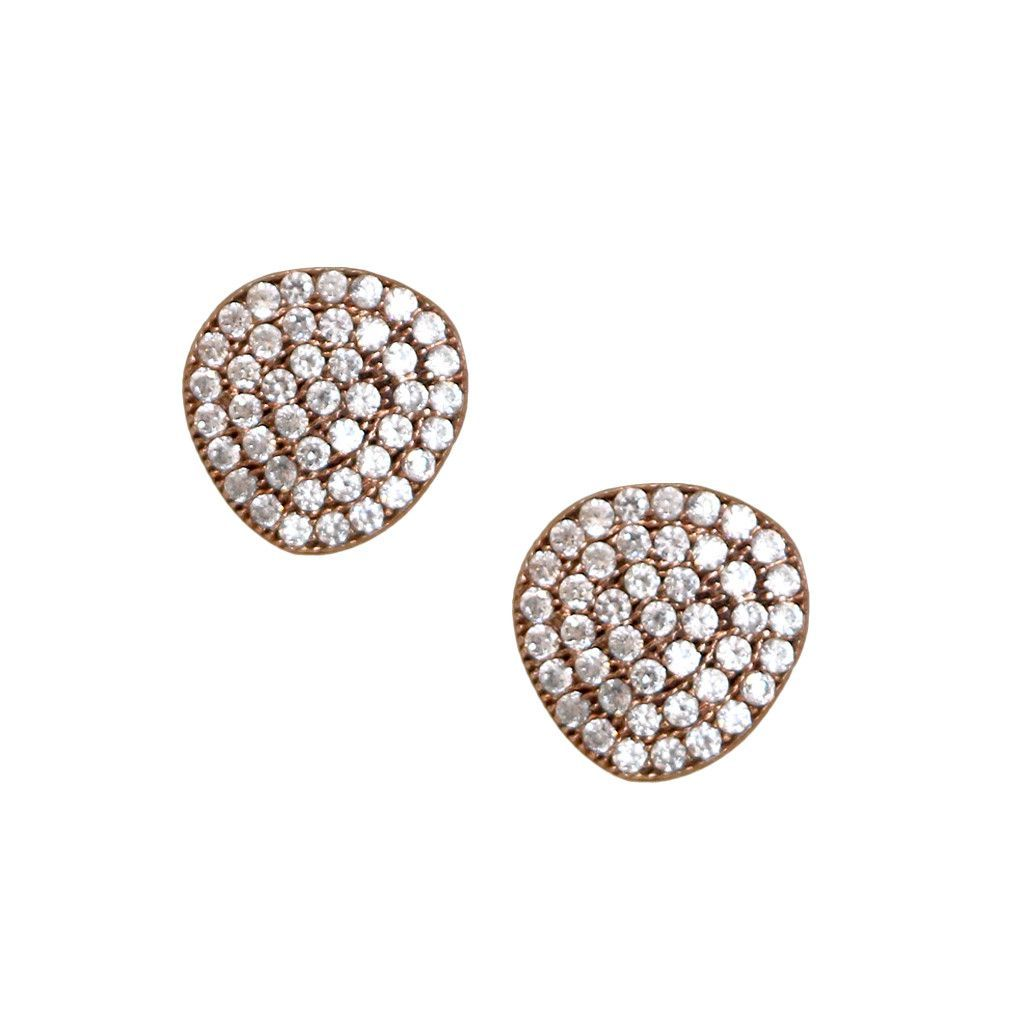 Uneven Rose Gold Stud Earrings